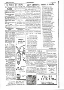Anuncio en el antiguo diario La Vanguardia Española